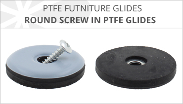 ROUND PTFE SCREW IN FURNITURE GLIDES